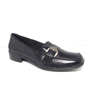 Life Stride Beth Black Leather Loafers Sz 7.5 NWOT